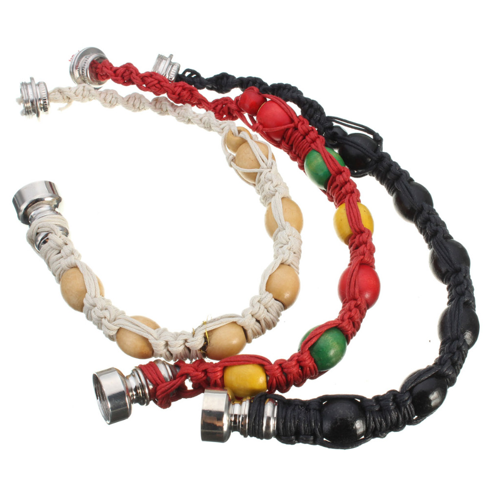 Portable Metal Bracelet Smoke Smoking Pipe Jamaica Rasta